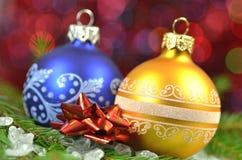 Decoração do Natal, bolas coloridas do Natal Imagem de Stock
