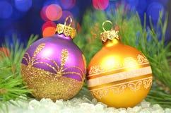 Decoração do Natal, bolas coloridas do Natal Imagens de Stock