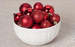 Decoração do Natal Bolas e Bels vermelhas naughty fotos de stock royalty free