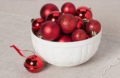 Decoração do Natal Bolas e Bels vermelhas naughty foto de stock royalty free