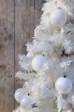 Decoração do Natal branco Fotografia de Stock