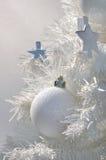 Decoração do Natal branco Fotos de Stock Royalty Free