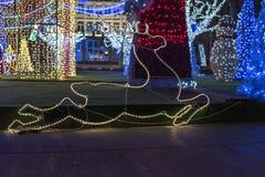 A decoração do Natal - cervo de Santa Claus imagens de stock