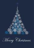 Decoração do Natal com árvore do White Christmas Foto de Stock