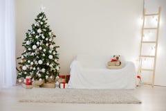 Decoração 2018 do Natal com árvore e presentes de Natal Fotos de Stock
