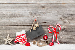 Decoração do Natal com bastões do xmas Foto de Stock Royalty Free