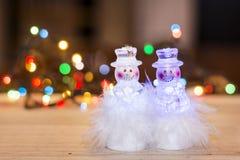 Decoração do Natal com brinquedos do boneco de neve Fotos de Stock Royalty Free