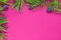 Decoração do Natal com espaço da cópia fotos de stock royalty free