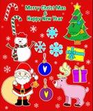 Decoração do Natal com estilo da sucata Fotos de Stock Royalty Free