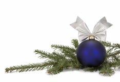 Decoração do Natal com filial de árvore Foto de Stock