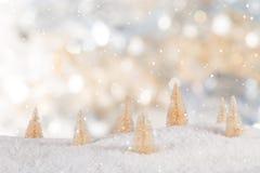 Decoração do Natal com fundo borrado imagens de stock royalty free