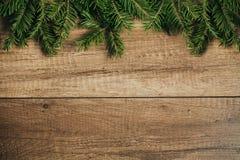Decoração do Natal com fundo de madeira Foto de Stock
