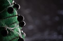 Decoração do Natal com fundo escuro à moda Imagens de Stock
