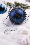 Decoração do Natal com neve Foto de Stock Royalty Free