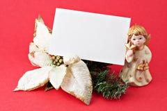 Decoração do Natal com presente em branco 2 Fotos de Stock