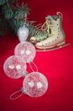 Decoração do Natal com presentes e balões Imagem de Stock Royalty Free
