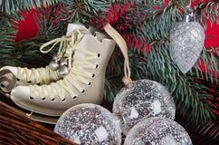 Decoração do Natal com presentes e balões Foto de Stock Royalty Free