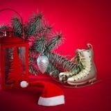 Decoração do Natal com presentes e balões Fotos de Stock Royalty Free