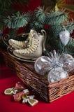 Decoração do Natal com presentes e balões Imagens de Stock