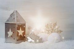 Decoração do Natal com raio claro fotos de stock royalty free