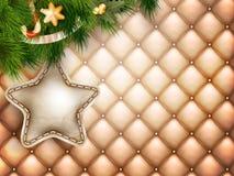 Decoração do Natal com ramos do abeto Imagem de Stock Royalty Free