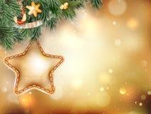 Decoração do Natal com ramos do abeto Eps 10 Foto de Stock