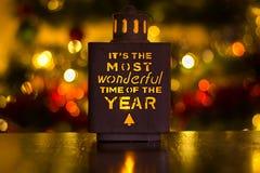 Decoração do Natal com texto famoso Imagem de Stock Royalty Free