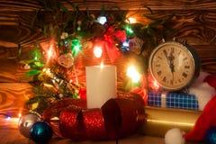 Decoração do Natal com vela Imagem de Stock