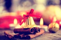 Decoração do Natal com velas Fotos de Stock Royalty Free