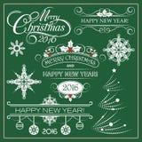 Decoração do Natal conservado em estoque do vetor e do ano novo Fotos de Stock