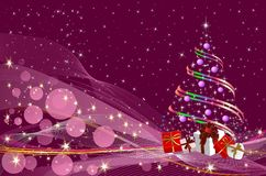 Decoração do Natal da árvore de Natal, Imagens de Stock