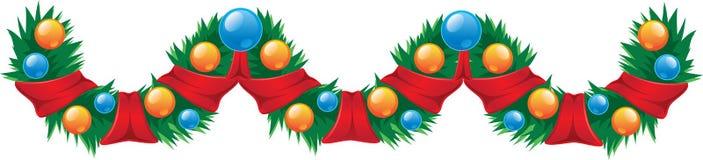 Decoração do Natal da festão Imagem de Stock Royalty Free