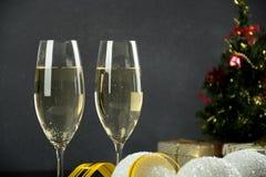 Decoração do Natal de Champagne Imagens de Stock Royalty Free