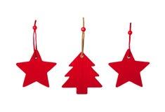 Decoração do Natal de feltro Fotos de Stock Royalty Free
