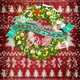 Decoração do Natal do ano novo Eps 10 Imagem de Stock Royalty Free