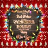Decoração do Natal do ano novo Eps 10 Imagens de Stock Royalty Free