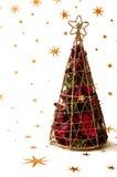 Decoração do Natal do frame com folhas cor-de-rosa imagens de stock royalty free