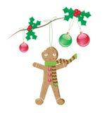 decoração do Natal do homem de pão-de-espécie Foto de Stock Royalty Free