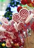 Decoração do Natal do pirulito Imagens de Stock Royalty Free