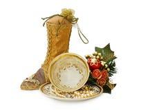 Decoração do Natal do vintage com trajeto de grampeamento imagem de stock royalty free