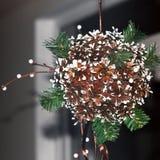 Decoração do Natal dos cones imagens de stock royalty free