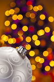 Decoração do Natal e fora dos destaques do foco Imagem de Stock Royalty Free