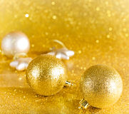 Decoração do Natal em backgroun defocused das luzes Imagem de Stock
