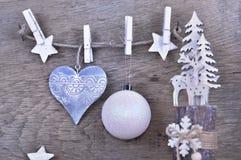 Decoração do Natal em de madeira fotos de stock royalty free