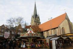 Decoração do Natal em Flensbirg Fotografia de Stock Royalty Free
