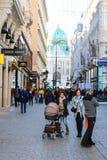Decoração do Natal em Graben, Viena Áustria imagem de stock