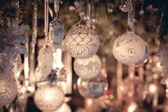 Decoração do Natal em um mercado europeu Fotografia de Stock Royalty Free