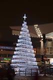 Decoração do Natal - estação de comboio em Varsóvia imagem de stock royalty free