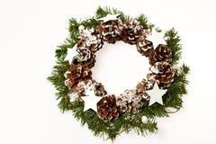 Decoração do Natal Estrela de madeira Foto de Stock