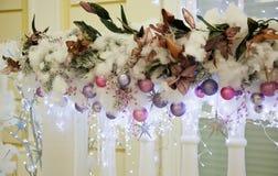 Decoração do Natal fora da casa Imagem de Stock Royalty Free